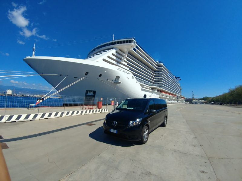Cruise ship from Messina Port