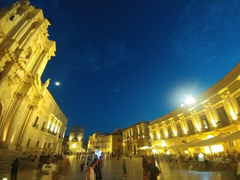Syracuse et Ortigia le soir